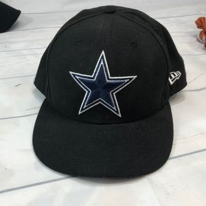 USED 7 3/4 New Era Dallas Cowboys Black Fitted Cap